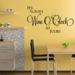 Personalised It's Always Wine O'Clock~ Wall sticker / decals (2)